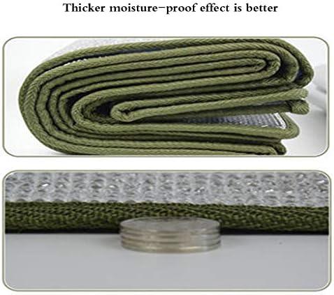 Tampone a prova d'umidità ispessimento esterno portatile impermeabile, erba pic-nic tenda da casa pellicola in alluminio dormitorio singolo dormitorio, spessore 9 mm 200 * 150cm