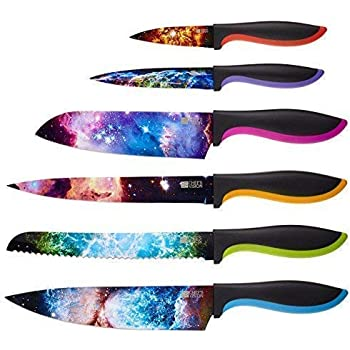 Cosmos Kitchen Knife Set in Gift Box - Color Chef Knives - Cool Christmas Gifts, Unique Wedding Gifts For Couple, Bridal Shower Gifts For Women, Birthday Gift Idea For Men, Housewarming Gift New Home