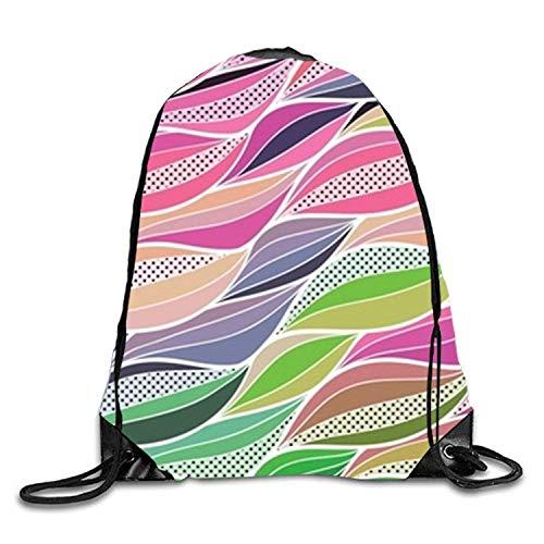 Bnialaed Cartoon Pattern Drawstring Backpack Travel Rucksack Shoulder Bags Fashion Gym Bag Lightweight Drawstring Gym Yoga Runner Bags For Men Women ()