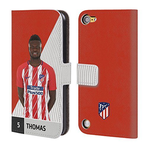 Price comparison product image Official Atletico Madrid Thomas Partey 2017/18 First Team Group 1 Leather Book Wallet Case Cover For Touch 5th Gen / Touch 6th Gen