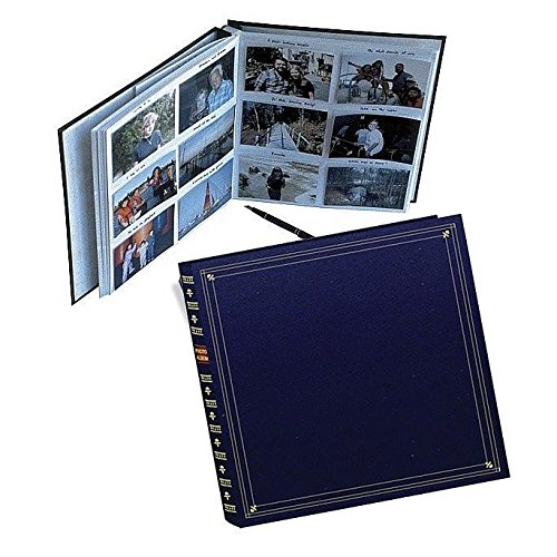 (Pioneer 300 Pocket Memo Photo Album - Archival, Memo Space, European Bonded Leather, Bookshelf Design, Fits 3.5 x 5 Inch Photos - Navy Blue)