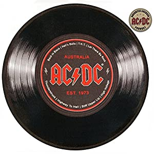 Rock bites ac dc vinyl record diameter 50 cm carpet for Geschenktrends shop