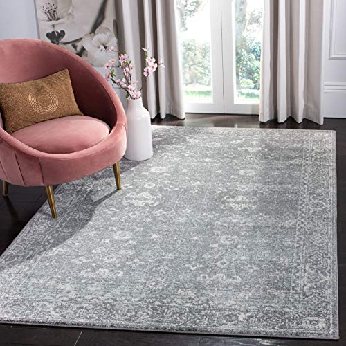 Safavieh Evoke Collection EVK270S Vintage Grey and Ivory Area Rug (9' x 12') ()