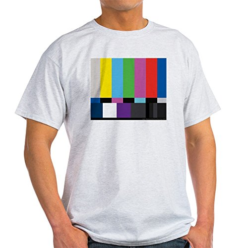 CafePress SMPTE Standard Definition Television Color Bars EG 100% Cotton T-Shirt Ash Grey