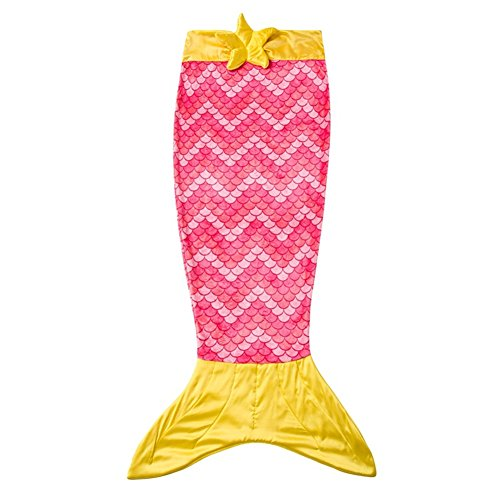 Kids Mermaid Tail Blanket For Girls Super Cozy Soft Warm Fleece Children Sleeping Bags for All Seasons Best Choice for Birthday Christmas New year Gift ,55.9 inch
