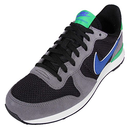 Nike Wmns Internationalist, Zapatillas de Deporte para Mujer, Misto, Media Gris (Dark Grey/Racer Blue-Black)