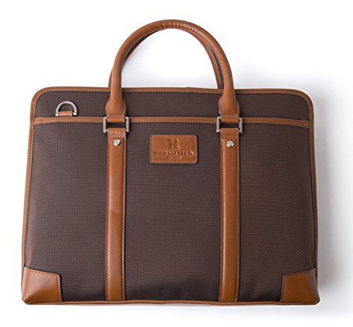 HT HERMA TIAD Soho Collection -KY02-025R Rolfe Briefcase Fits 15-inch Laptop and Note Book,Travel Briefcase Laptop Bag for all models PC / Macbook / iPad / iPhone Business Office Handbag for Men Women by HT HERMA TIAD