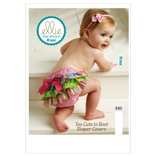 (Kwik Sew K0102 Too Cute to Boot Diaper Covers Sewing Pattern, Size XS-S-M-L-XL )