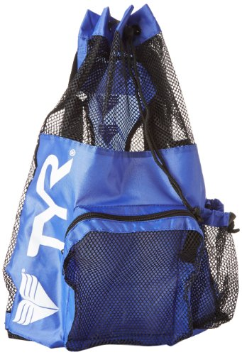 (TYR Big Mesh Mummy Gear Bag, Royal Blue)