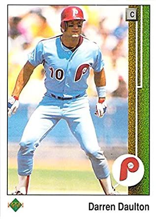 pretty nice 84a5b e6fb7 Amazon.com: Baseball MLB 1989 Upper Deck #448 Darren Daulton ...