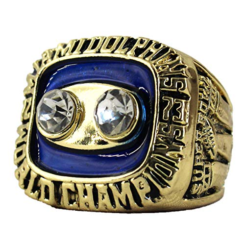 MVPRING Super Bowl 1966-2019 Championship Ring (Size 11) (Size 11, 1973 Miami Dolphins) ()