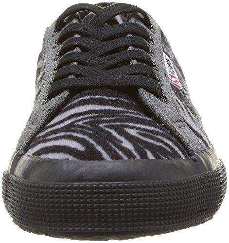 Superga 2750 Fabricwzebra - Zapatillas de Deporte de canvas Unisex negro - Noir (966 Zebra Grey/Black)