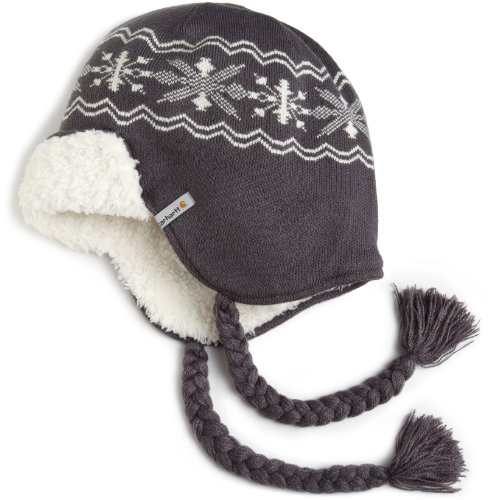 Carhartt Women's  Knit Earflap Hat,Coal  (Closeout),One Size