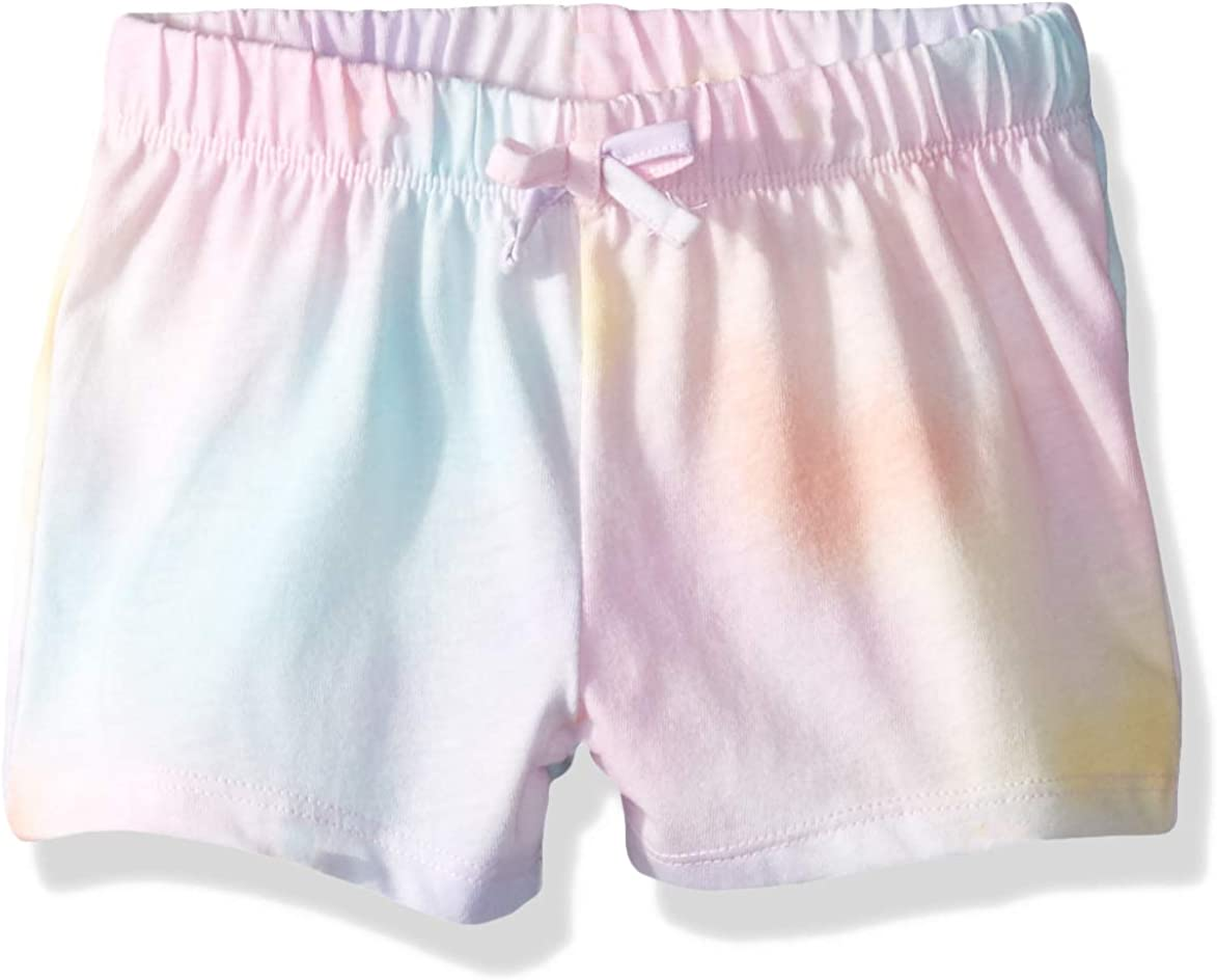 The Childrens Place Baby Girls Solid Novelty Matchable Waistband Shorts