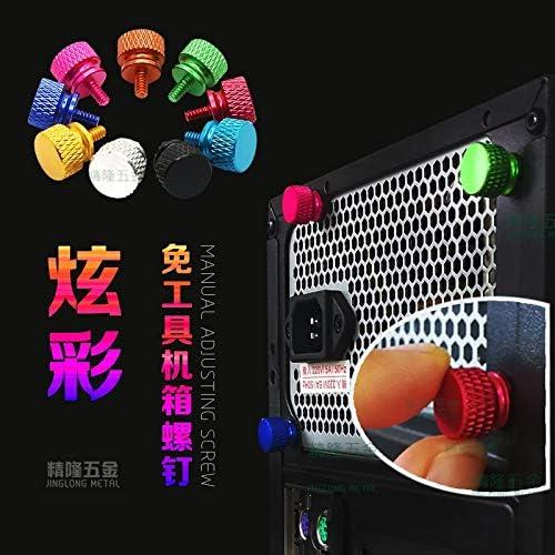 Size : Dark Blue JWJY 10pcs M3 Aluminum step thumb screw Computer case Screw Knurled Hand Screws anodized 11 colors