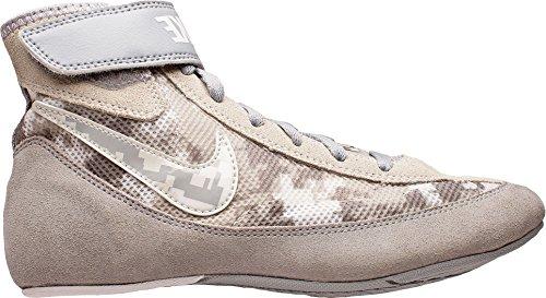 e8386876c07af Kids Nike Speedsweep VII Wrestling Shoe (Silver/White, 3)