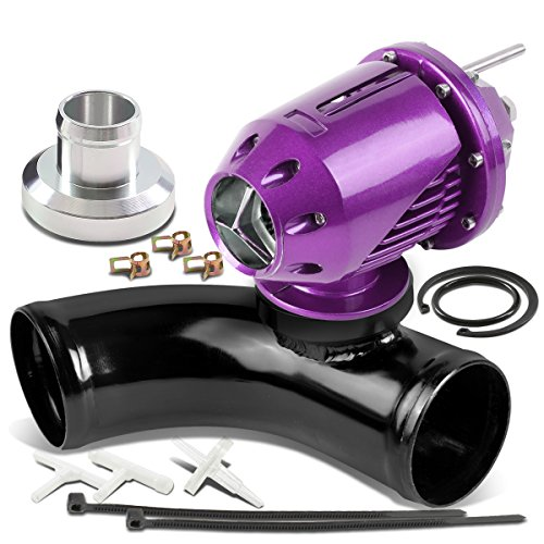 Universal Adjustable SQV Turbo Blow Off Valve Type-2 (Purple) + 2.5 inches BOV Adapter Flange Adapter Pipe (Black)
