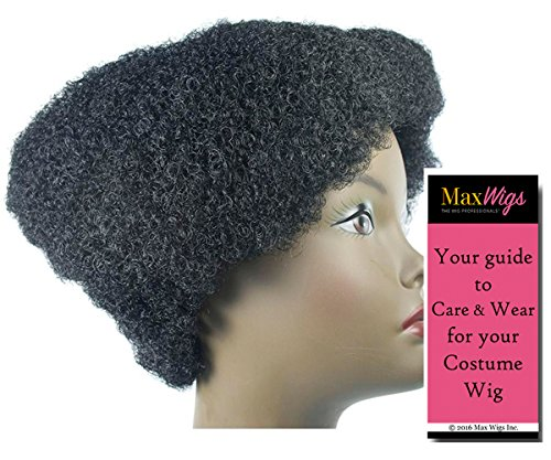 Flat Top Color Black - Lacey Wigs Contemporary Afro Huey Newton Panther WigBundle With MaxWigs Costume Wig Care Guide