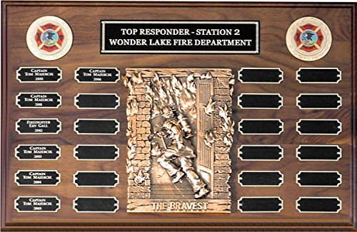 Award Plaques Firefighter (24 Plate FIREFIGHTER Perpetual Plaque 20