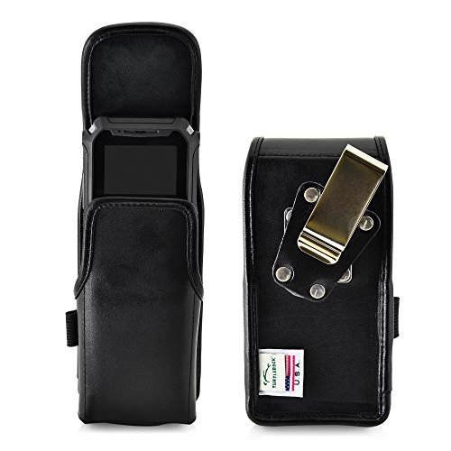 Turtleback Belt Case Compatible with Sonim XP5S Black Vertical Holster Leather Pouch with Heavy Duty Rotating Ratcheting Belt Clip -Made in USA