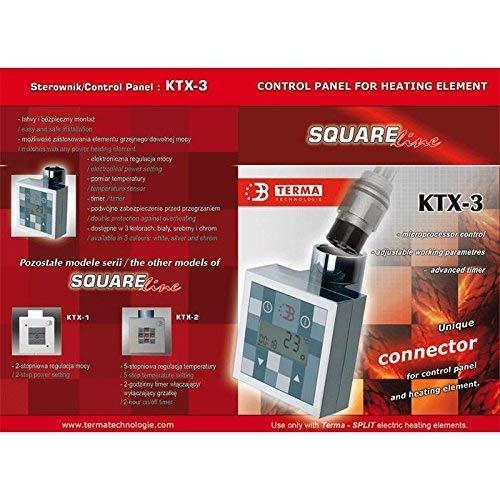 600Watt chrom Heizpatrone f/ür Badheizk/örper KTX-3
