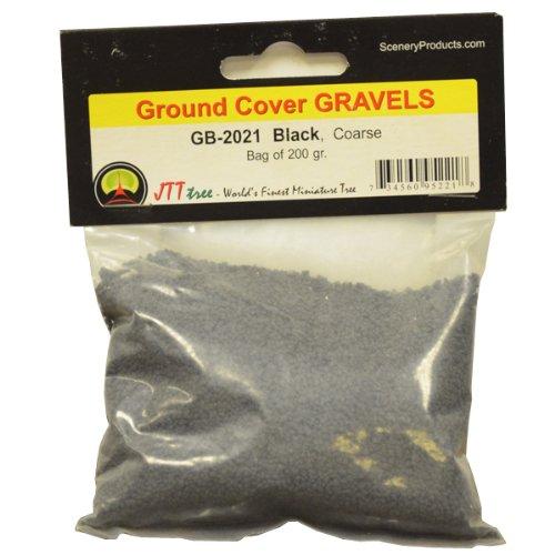 JTT Scenery Products Ballast and Gravel, Black, Coarse/200gm (Ballast Train Set)