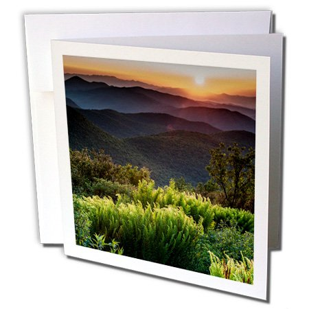 3dRose Tennant Mountain Area, Blue Ridge Parkway, NC Greeting Cards, 6