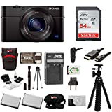 Sony DSC-RX100M III Cyber-shot Digital Camera with Sony Attachment Grip and Dual Battery Accessory Bundle