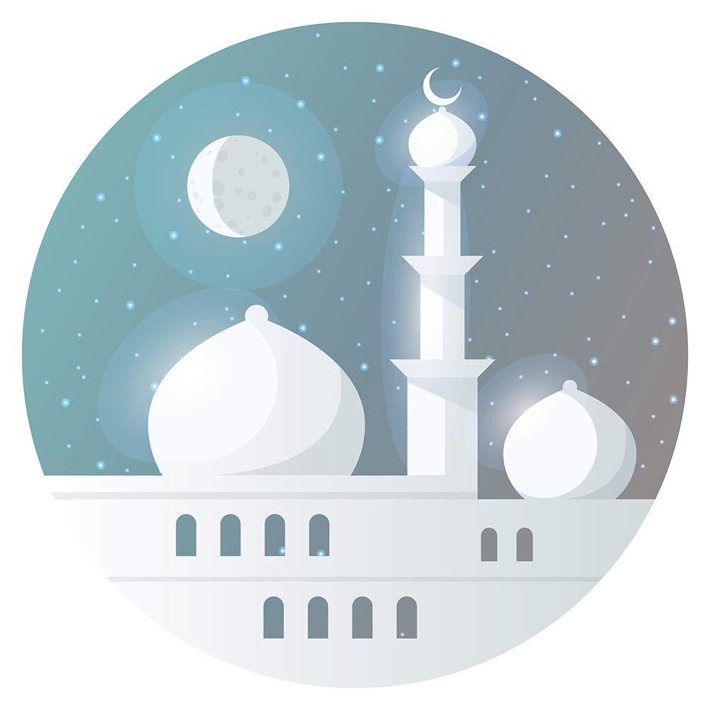 Pegatina de pared Este Cielo nocturno oriental con palacio y luna ...