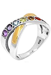 Xtremegems Infinity Healing Chakra 925 Sterling Silver Ring Jewelry Size 6 Cp225-6
