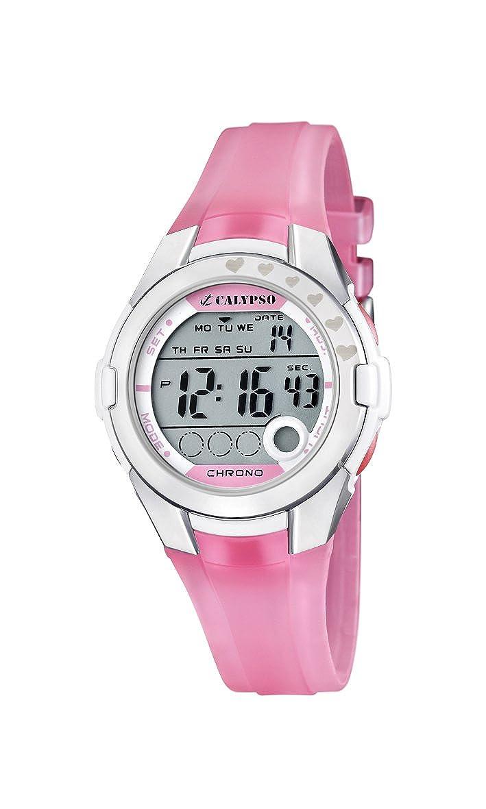 Calypso K5571/2 - Reloj para niños de cuarzo, correa de plástico color rosa: Amazon.es: Relojes