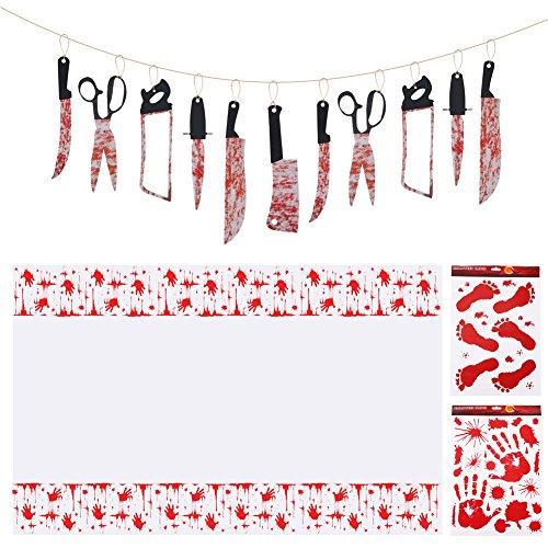 4 Piece Set,Zombie Party Plastic Tablecloth 54