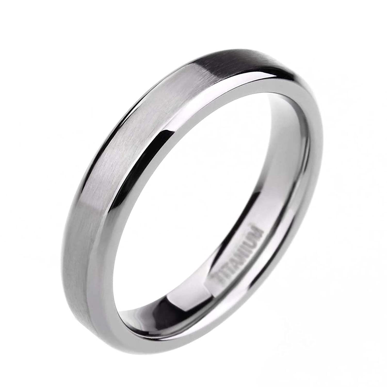 mens wedding rings 4MM 6MM 8MM Unisex Titanium Wedding Band Rings in Comfort Fit Matte Finish for