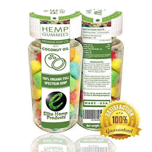 35ct Premium Hemp Gummies - 20mg Per Gummy Bear - Full Spectrum Hemp - Coconut Oil, Fiber, Vitamin E, Vitamin B, Omega 3,6,9 and MORE - Relax, Renew & Refresh - Satisfaction Guaranteed