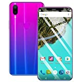 Weite 8 Cores 6.2'' Full Screen 3G Unlocked Smartphone with Finger Print Sensor, Supports Face Recognition/Android 8.1 IPS/16GB/Dual HD Camera/Dual SIM Card/3800Mah Lithium-ion Battery (Purple)