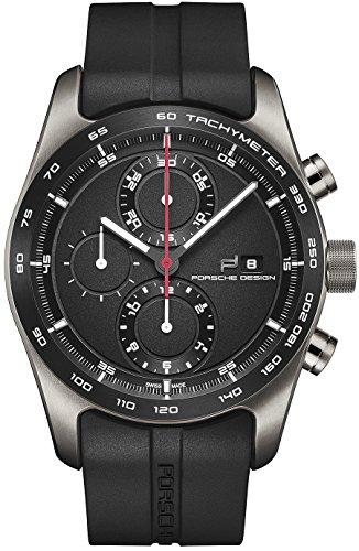 Porsche Design Chronotimer Series 1 Automatic Watch, Polished titanium, Black