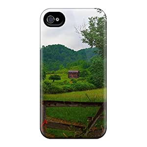 Durable Defender Case For Iphone 4/4s Tpu Cover(farm House Gate)