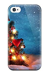 Alicia Russo Lilith's Shop Hot Flexible Tpu Back Case Cover For Iphone 4/4s - Beautiful Christmas Trees