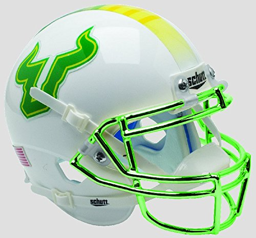 Schutt SOUTH FLORIDA BULLS NCAA XP Authentic MINI Football Helmet USF by Schutt