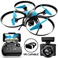 """Force1 Drones with Camera - """"U49W Blue Heron"""" WiFi FPV Drone with Camera Live Video with Drone Camera + Camera Drone Bonus Battery from Force1"""