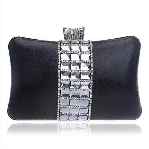 Tutu Evening Bags Femme De Sac À Bandoulière En Métal Strass Pour Sac, Or Noir