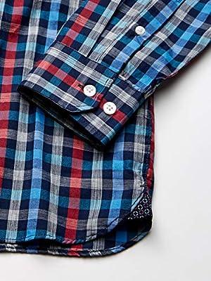 Van Heusen Men's Never Tuck Long Sleeve Button Down Plaid Shirt