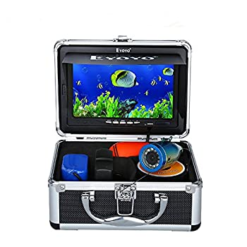 Image of 7' Color LCD 600tvl Waterproof 15m Cable 4000mah Rechargeable Battery Fish Finder Underwater Fishing Video Camera with Carry Case Fish Finders & Depth Finders