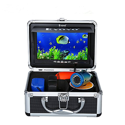 "7"" Color LCD 600tvl Waterproof 15m Cable 4000mah Rechargeable Battery Fish Finder Underwater Fishing Video Camera with Carry Case"