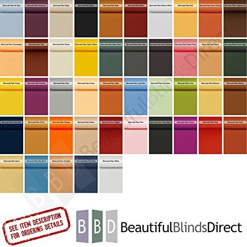- Made to Measure Vertical Blind Replacement Slats - 3.5 Bermuda Fabric (10,15,20,25,30 Slats) 35 Colours - Including Hangers Weights & Chains, Free Delivery (10) by Beautiful Blinds Direct