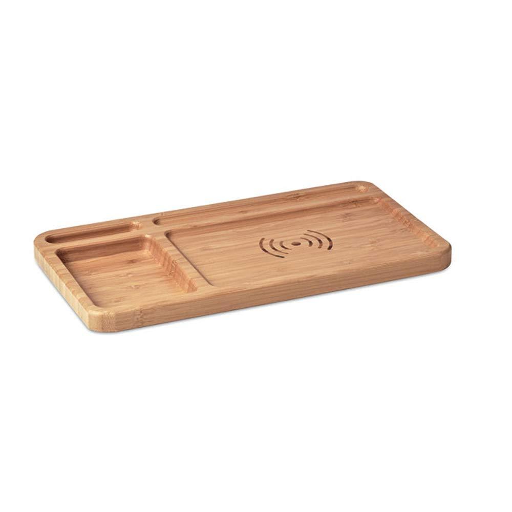 Organizer Aufbewahrungsfach mit Ladestation Bü roaccessoire Tisch Dekoration Bambus Holz von notrash2003