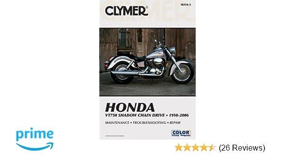 Honda vt750 shadow chain drive 1998 2006 clymer motorcycle repair honda vt750 shadow chain drive 1998 2006 clymer motorcycle repair penton staff 0024185908371 amazon books fandeluxe Gallery