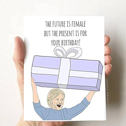 hillary clinton quote birthday card