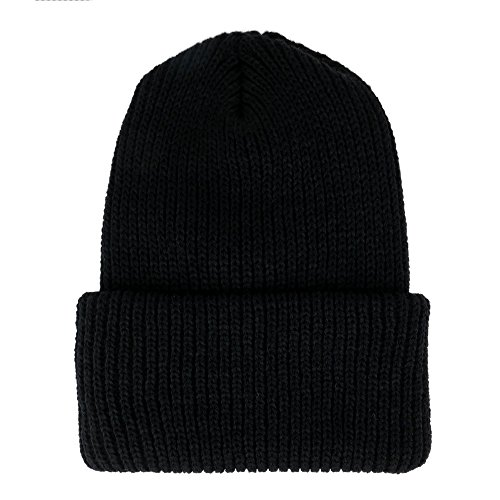 9d5a5b2eae3fc8 Made in USA, Heavy Weight GI Watch Cap Winter Acrylic Cuff Folded Beanie Hat  -