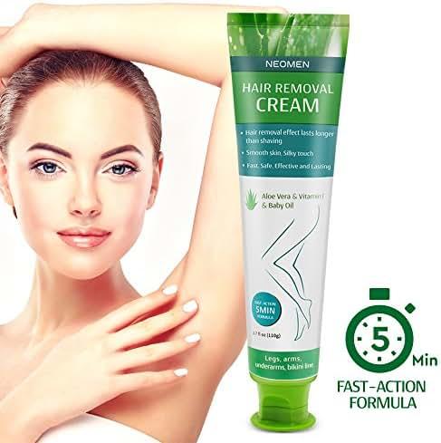 Neomen Hair Removal Cream - Premium Depilatory Cream - Skin Friendly Painless Flawless Hair Remover Cream for Women and Men